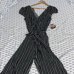 BeBop Striped Jumpsuit